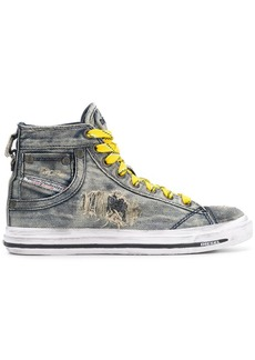 Diesel denim hi-top sneakers