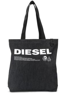 Diesel denim logo tote bag