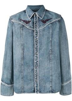 Diesel denim shirt with geometric embroidery