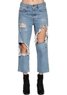 Diesel Destroyed Washed Denim Jeans