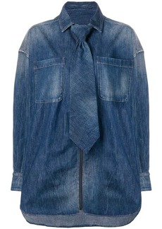 Diesel detachable tie denim shirt