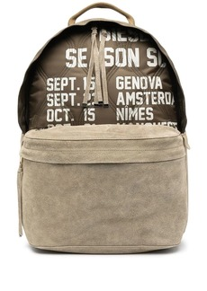 Diesel Dhorian quilted suede backpack