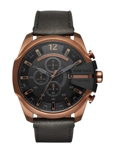 Diesel Advanced Stainless Steel Leather-Strap Watch