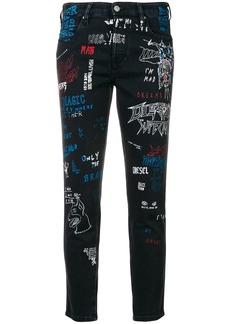 Diesel Babhila graffiti jeans - Black