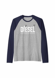Diesel Because Electric Cars Can't Roll Coal Truck Raglan Baseball Tee
