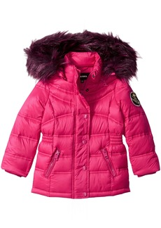 Diesel Big Girls' Outerwear Jacket (More Styles Available) Down Bubble-DS90H-Cherry/Wine