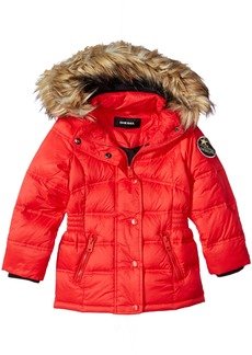 Diesel Big Girls' Outerwear Jacket (More Styles Available) Down Bubble-DS90H-Red