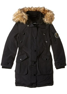 Diesel Big Girls' Outerwear Jacket (More Styles Available) Parka-DS89H-Black