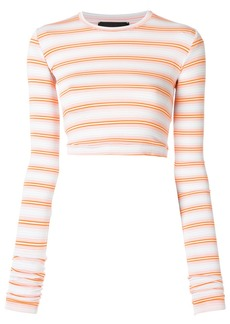 Diesel Black Gold extended sleeve round neck crop top - Yellow &