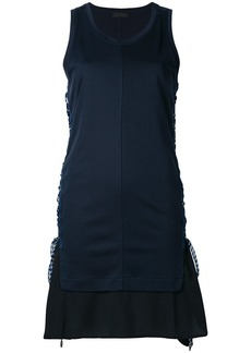Diesel Black Gold layered look side tie dress - Blue