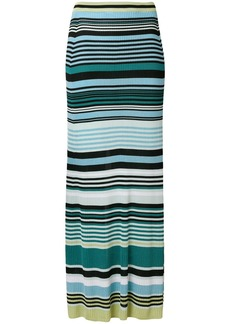 Diesel Black Gold striped maxi skirt - Blue