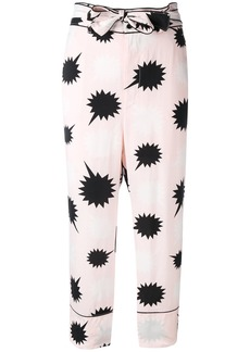 Diesel bow detail Pjama trousers - Pink & Purple