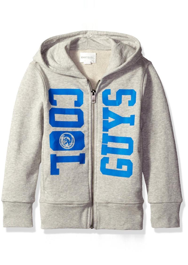 Diesel Little Boys' Spov Zip Front Hooded Sweater