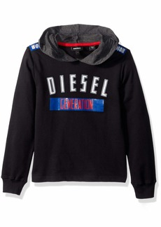 Diesel Boys' Little Lightweight French Terry Hoodie