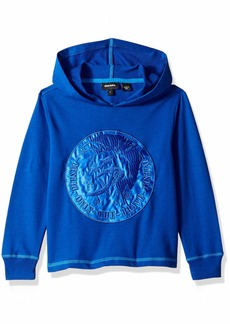 Diesel Boys' Little Lightweight French Terry Hoodie surf The Web