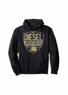 Diesel Brothers Custom Trucks Shield Vintage Graphic Hoodie