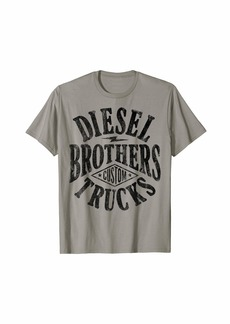 Diesel Brothers Custom Vintage Black Text Graphic T-Shirt