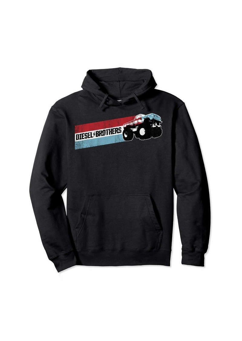 Diesel Brothers Red White Blue Stripe Truck Graphic Hoodie