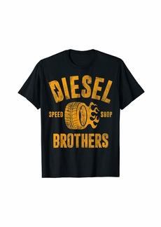 Diesel Brothers Speed Shop Gold Vintage Graphic T-Shirt