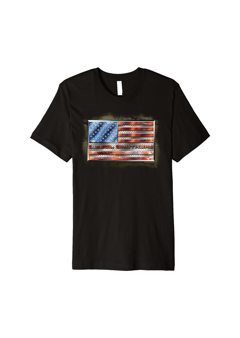 Diesel Brothers Tough American Steel Flag Premium T-Shirt