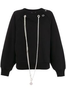 Diesel chain-embellished sweatshirt - Black