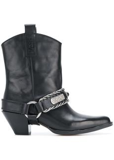 Diesel D-Cat Boy cowboy boots - Black