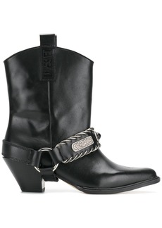 Diesel D-Cat Boy cowboy boots - Black