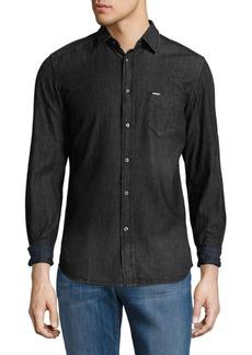 Diesel Denim Cotton Button-Down Shirt