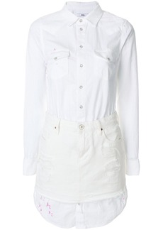 Diesel denim shirt dress - White