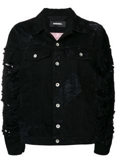 Diesel Devisty distressed denim jacket - Black