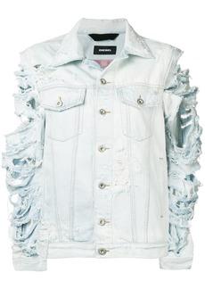 Diesel Devisty distressed denim jacket - Blue