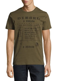Diesel Diego Printed Cotton Tee
