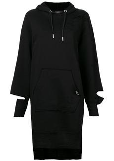 Diesel Dilse distressed hoodie dress
