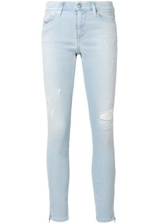 Diesel distressed cropped skinny jeans - Blue