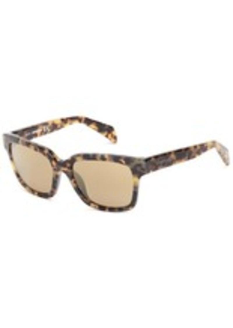 Diesel DL00735456G Wayfarer Sunglasses,Havana,54 mm