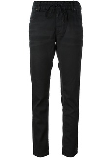 Diesel drawstring fastening trousers - Black