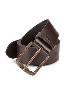 Diesel Embossed Leather Belt