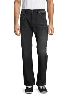 Diesel Five-Pocket Whiskered Denim Pants