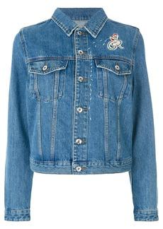 Diesel folk embroidery denim jacket - Blue