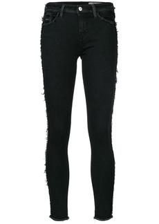 Diesel frayed detail skinny trousers - Black