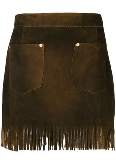 Diesel fringed mini skirt - Brown