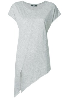 Diesel front slit elongated T-shirt - Grey