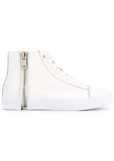 Diesel hi-top zip sneakers - White