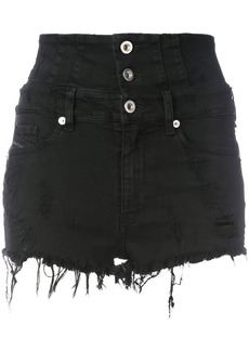 Diesel high waisted shorts - Black