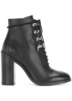 Diesel hiking style heeled boots - Black