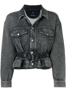 Diesel Karlyne peplum denim jacket - Grey