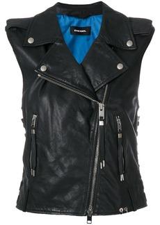 Diesel L-Rata leather gilet - Black