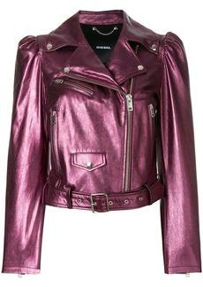 Diesel L-Sunset leather jacket - Pink & Purple