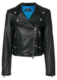 Diesel L-Tara leather jacket - Black