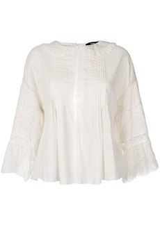 Diesel lace embroidered blouse - White